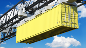 EagleRail Container Logistics says its new system will move containers along an overhead track, and over other infrastructure, to replace the drayage truck model and alleviate port congestion.