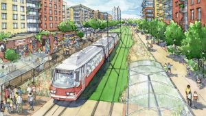 """Under a $500,000 contract, VHB/Vanasse Hangen Brustlin, Inc. will conduct a six-month study for light rail around the Atlanta BeltLine, which MARTA said is """"an important step forward toward requesting federal funding support."""""""
