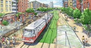 "Under a $500,000 contract, VHB/Vanasse Hangen Brustlin, Inc. will conduct a six-month study for light rail around the Atlanta BeltLine, which MARTA said is ""an important step forward toward requesting federal funding support."""