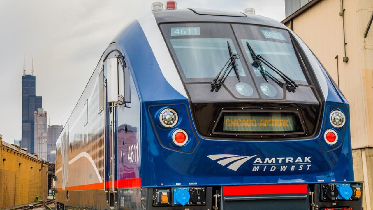 The state of Michigan-supported Amtrak Wolverine has been operating with one daily roundtrip after two other frequencies were temporarily suspended in March 2020 due to the pandemic. The second roundtrip will return July 19. (Marc Glucksman, Amtrak)