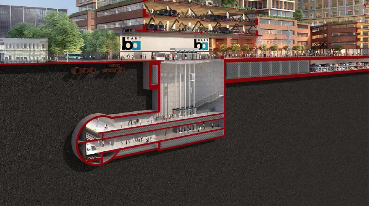 The BART Silicon Valley project's $6.8 billion final phase will expand BART operations six miles through downtown San José to Santa Clara, and include one at-grade and three underground stations.