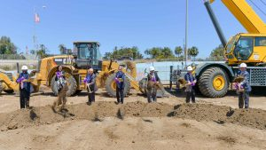Representatives from Los Angeles County Metropolitan Transportation Authority, Federal Transit Administration, U.S. Department of Veteran Affairs, UCLA and other local and federal officials marked the start of major construction on the third and final section of the Purple (D Line) Extension Project with a groundbreaking ceremony on May 24.