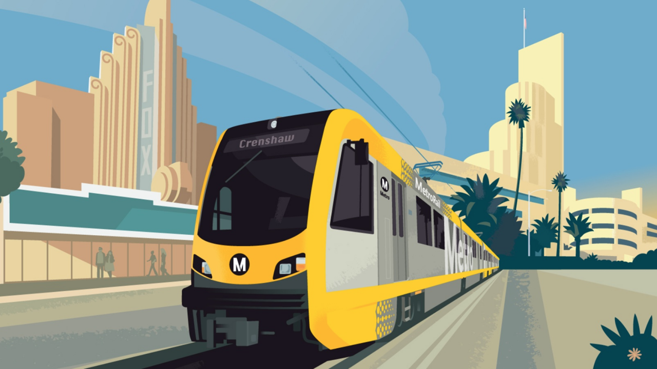 The Crenshaw/LAX (rendering above) and Regional Connector projects are slated to begin pre-revenue operations and testing in FY22.