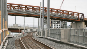 A portion of the Green Line Extension will be complete by the end of the year. (MBTA)