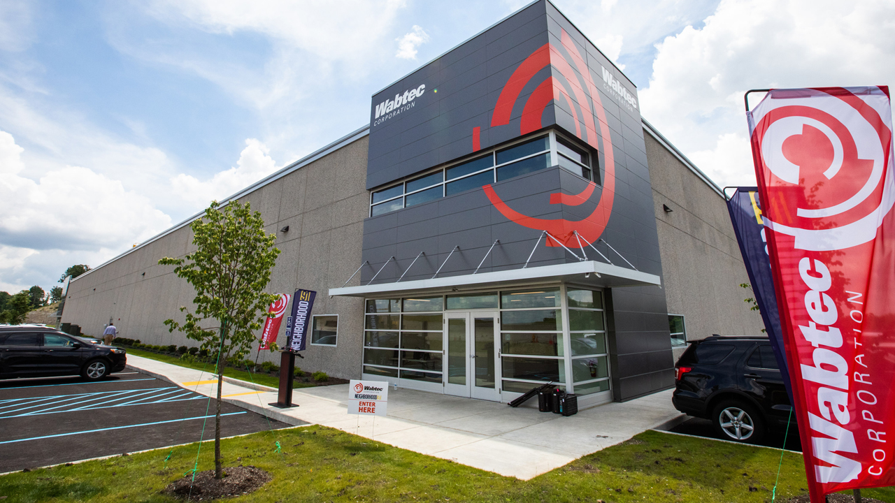 Wabtec occupies 11,000 square feet of space in the first building of Neighborhood 91, an additive manufacturing and 3D-printing supply chain hub in Pittsburgh, Pa.