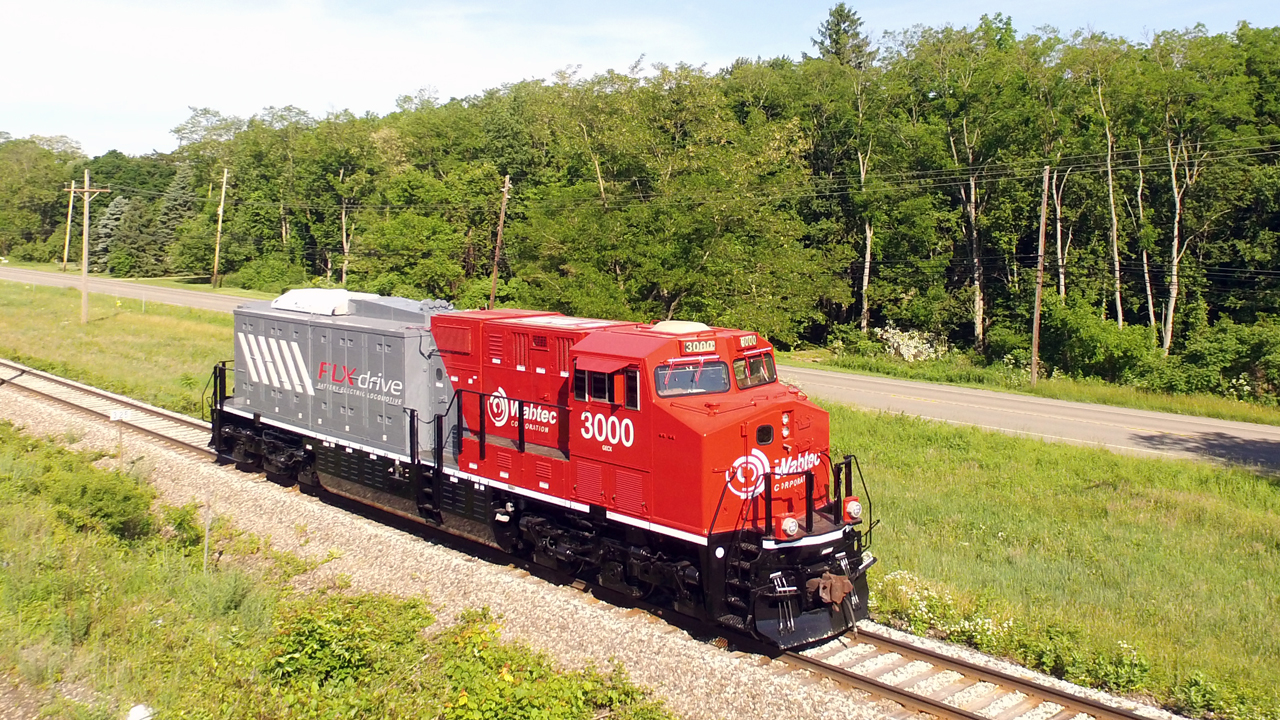 """""""Our FLXdrive locomotive (pictured), the world's first 100% battery-powered locomotive, has proven its potential to slash carbon emissions by up to 30% when operating at 6 MWh,"""" said Wabtec President and CEO Rafael Santana. """"But we can't stop there. By working with GM on Ultium battery and HYDROTEC hydrogen fuel cell technologies, we can accelerate the rail industry's path to decarbonization and pathway to zero-emission locomotives."""""""