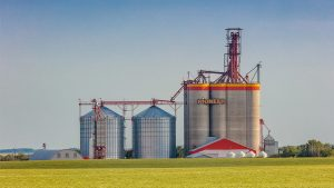 Slated for completion by fall 2022, Richardson's new high-throughput grain elevator in Carmichael, Saskatchewan will be situated near the company's Swift Current and Maple Creek Richardson Pioneer facilities (to the east and west, respectively). (Photo courtesy of Scott Prokop Photography. CNW Group/Richardson International Ltd.)