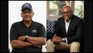 Patriot Rail employees George Johnson, Jr., (left) and Herman Crosson have been selected as ASLRRA Safety Person of the Year and ASLRRA Safety Professional of the Year, respectively.