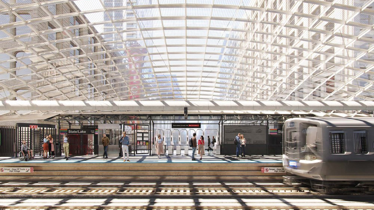 In Chicago, CDOT, on behalf of CTA, is leading design and construction of the $180 million State/Lake station project. On June 9, it unveiled the preliminary design, featuring platforms that are double the current width; a full-coverage, glass canopy; a walkway connecting inner and outer platforms; four elevators to ensure accessibility; and improved connectivity between the elevated lines of the downtown Loop and the underground Red Line on State Street.