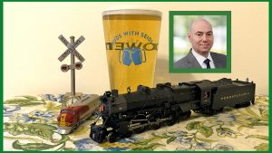 """Yes, there is an official """"Suds With Seidl"""" beer glass. Just remember Rule G if you're on duty! — Railway Age Editor William C. Vantuono (William C. Vantuono photo)"""