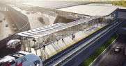 The Ottawa Macdonald-Cartier International Airport Authority is project manager for a new C$16.9 million light rail station, which will link the airport to OC Transpo's Trillium Line South Extension.