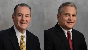 Robert P. Bauer, outgoing President and CEO, L.B. Foster (left); John F. Kasel, incoming President and CEO, L.B. Foster.