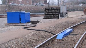 Pictured: RBL, Inc./Robolube's R2K system with the above-ground supply lines option.