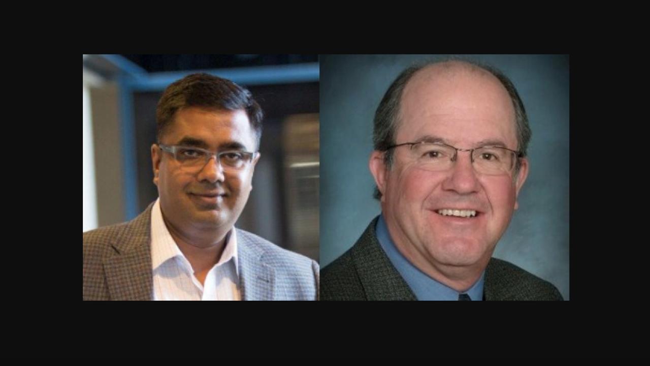 Santanu Roy, Global Transportation Planning Director, HDR (left); Randy Grauberger, Senior Rail Consultant, Quandel Consultants.