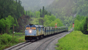First Nation-owned Tshiuetin operates a 217-kilometer (134.8-mile) regional railroad and a 574-kilometer (356.7-mile) passenger rail service along the northeastern Quebec and western Labrador rail corridor.