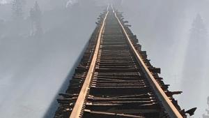 The Lava Fire damaged the Union Pacific's Dry Canyon Bridge located near Hotlum, California. (UP)