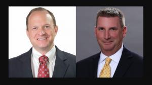 Brian Ward, Senior Vice President of Marketing, Development and Transload, OmniTRAX (left); Jeff Goutcher, Senior Vice President of Sales, OmniTRAX.