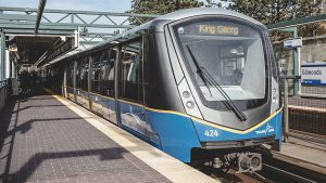 The 16-kilometer (9.94-mile) Surrey Langley SkyTrain extension in metro Vancouver will run from Surrey's King George Station to the Langley city center along Fraser Highway.