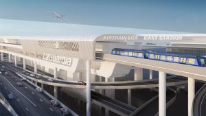 The Federal Aviation Administration (FAA) last month approved the approximately $2 billion LaGuardia Airport (N.Y.) AirTrain project, following environmental review. Four teams have now been short listed to build it.