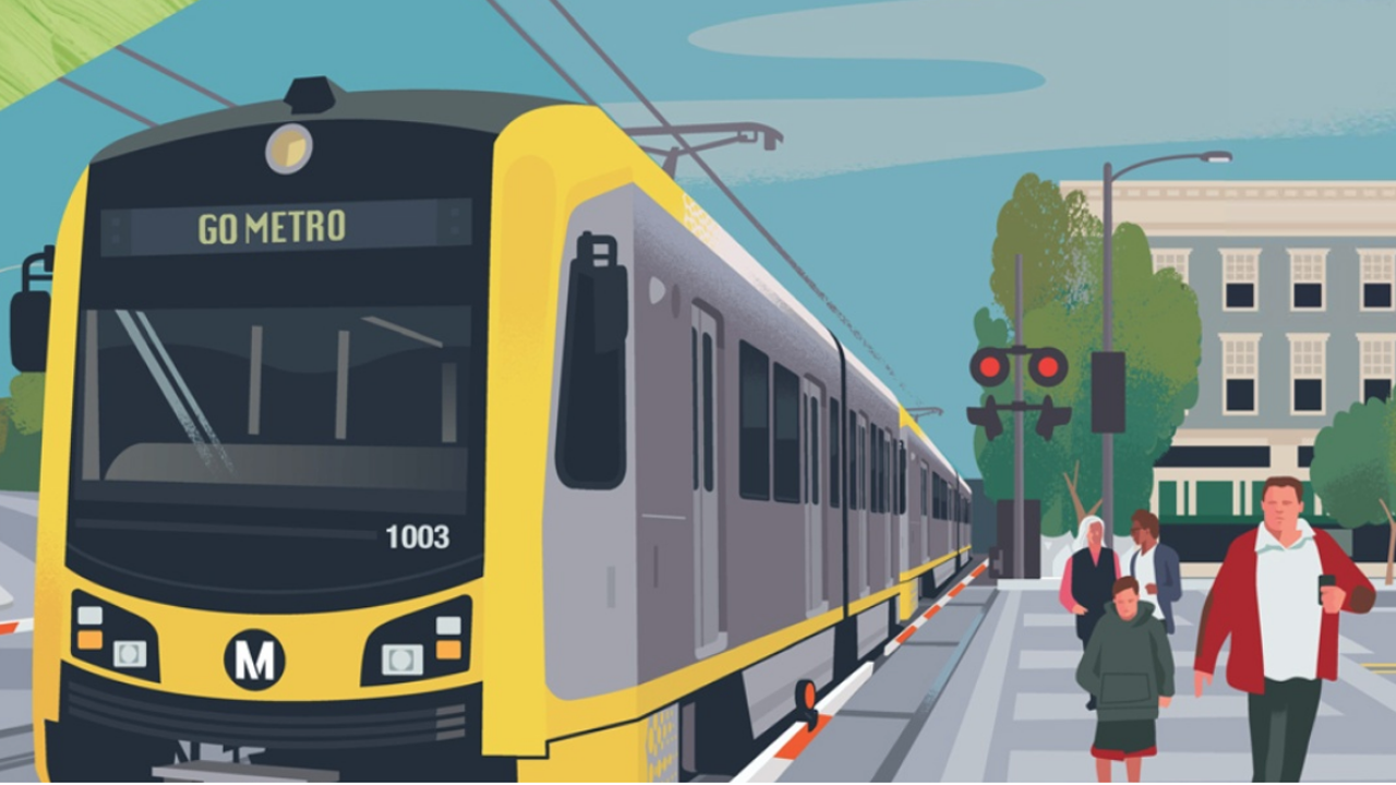 LACMTA's Draft EIS/EIR for the West Santa Ana Branch Transit Corridor (WSAB) project considers four alternative routes as well as potential land acquisition, transportation (i.e., traffic and parking), and noise impacts and mitigations.