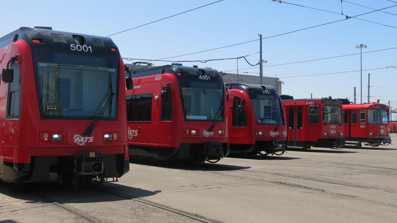 MTS Trolley, which launched in 1981, is now a 54.3-mile system with four lines (UC San Diego Blue, Orange, Sycuan Green, and SDG&E Silver) and 54 stations. All 244 LRVs ever purchased came from Siemens Mobility.