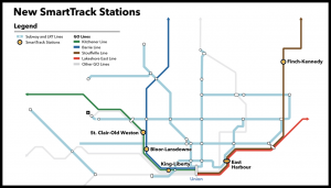 """""""With funding from the city of Toronto and the federal government, the city will be able to make use of [roughly 40 kilometers or 24 miles of] Metrolinx's GO rail infrastructure in Toronto to remake the regional commuter service into an urban rapid transit network,"""" Metrolinx reported on Aug. 17."""