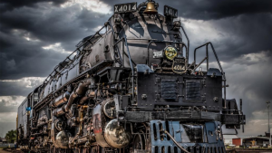 """UP's Steam Team has so far operated """"more than 1,500 miles of flawless execution with PTC"""" on the Big Boy No. 4014, pictured above in North Platte, Neb. (Photo by Tim Wilcox, UP locomotive engineer, Great Plains Service Unit)"""