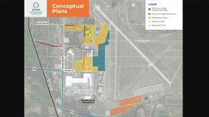 The Global Transportation & Industrial Park of Oklahoma includes more than 200 acres for air, rail and truck transport as well as spaces for transloading, warehousing, distribution and manufacturing. (Photo: Business Wire)