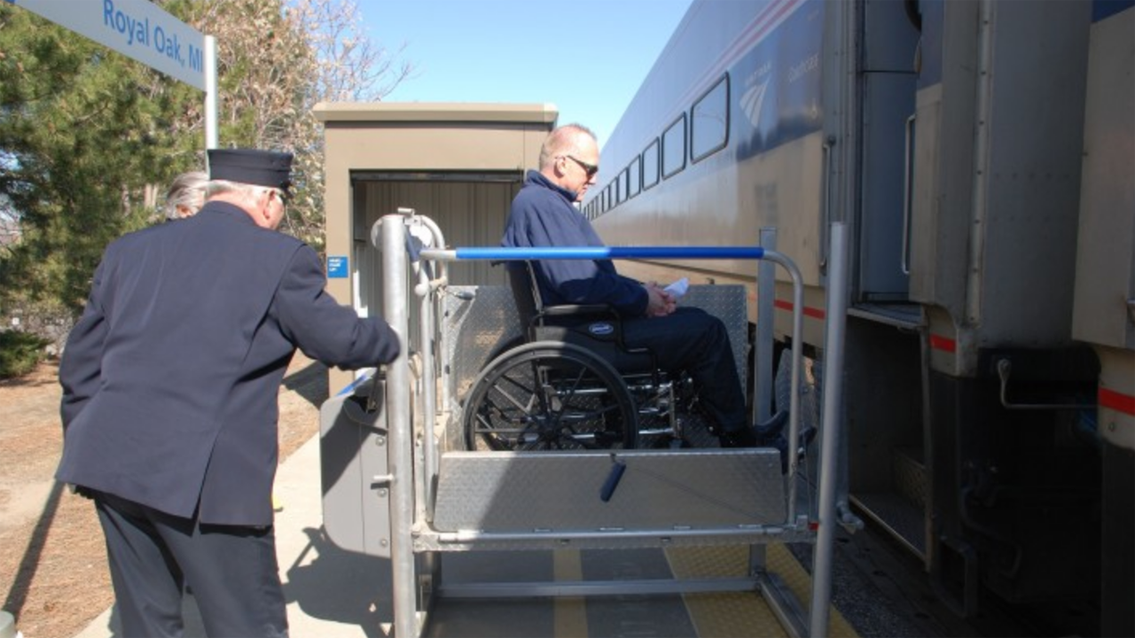 Over the past 12 years, Amtrak has brought 74 of 386 stations into ADA compliance.
