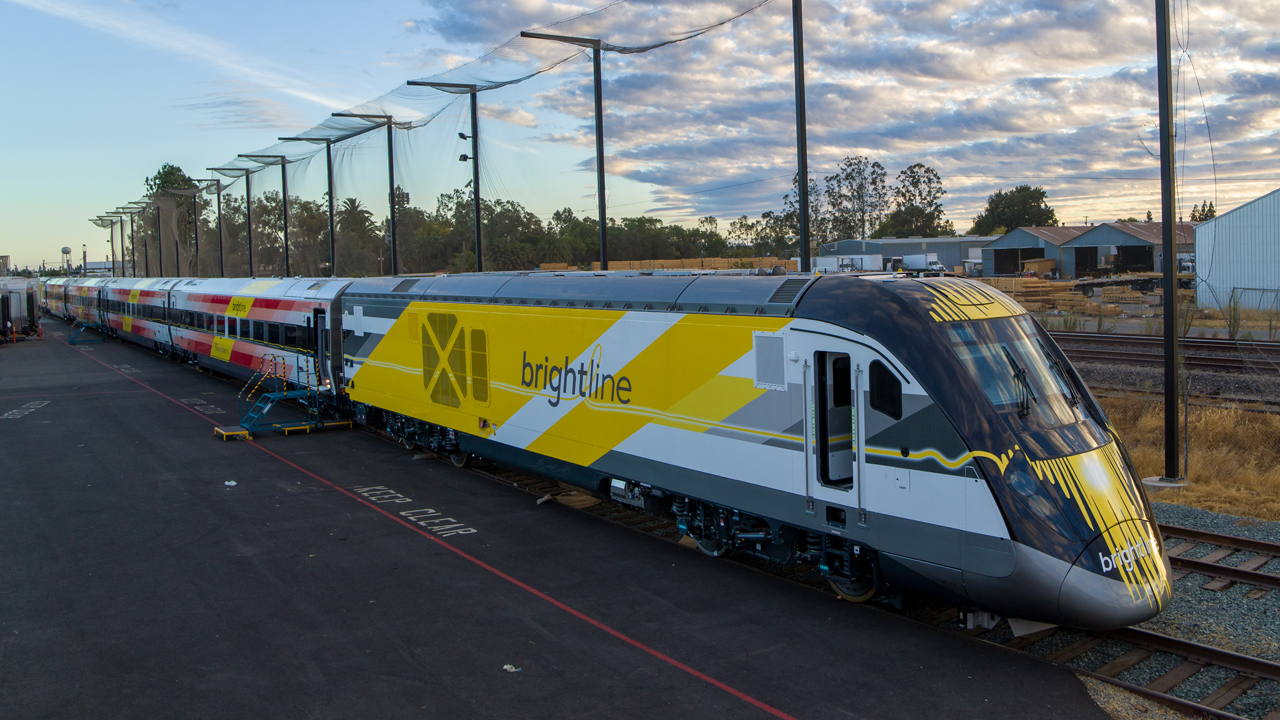 Brightline and Siemens Mobility on Sept. 28 celebrated the completion of Brightline's newest trainsets.