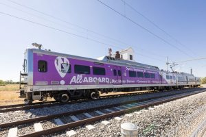Denver RTD livestreamed the opening ceremony for N Line service on Sept. 21, 2020 due to the pandemic. (RTD photo.)