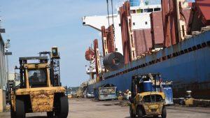 Port NOLA breakbulk vessel operations resumed Sept. 2 at Coastal Cargo with the MV Ishizuchi Star discharging steel at the Louisiana Avenue Complex. (Photo Credit/Port NOLA)