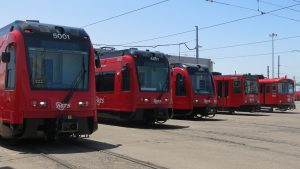 MTS Trolley, which launched in 1981, is now a 54.3-mile system with four lines (UC San Diego Blue, Orange, Sycuan Green, and SDG&E Silver) and 54 stations. (Photo: Courtesy of Siemens Mobility)
