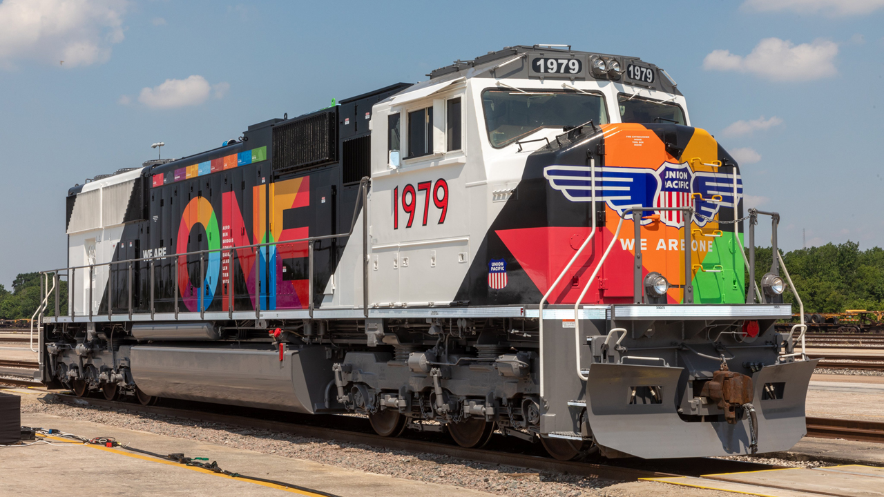 """Union Pacific celebrated the """"We Are ONE"""" commemorative locomotive's unveiling on Juneteenth (June 19, 2021) in Houston, Tex."""