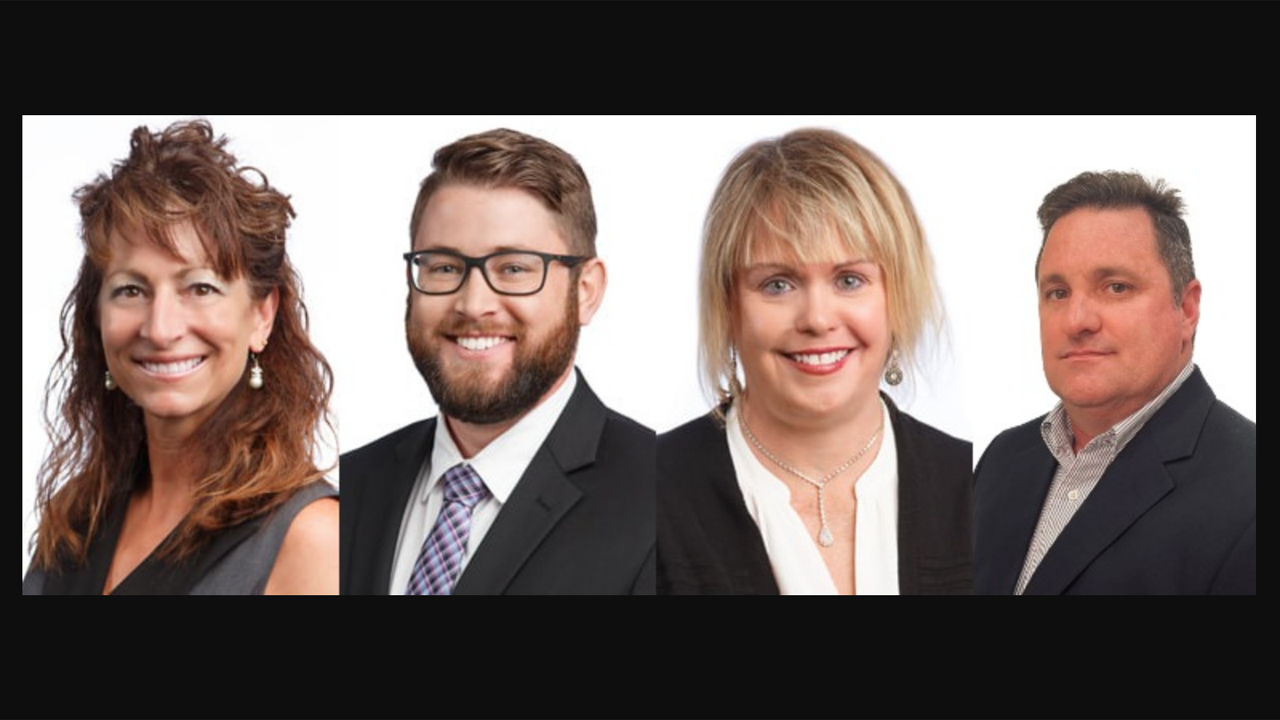 Downers Grove, Ill.-based AllTranstek has elevated Allison Bernabei (far left), Jay Kraska (second from left), Kelli Erkenbeck (second from right) and Chec Morrow to new positions.