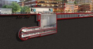 The BART Silicon Valley Phase 2 project will expand rapid transit service six miles through downtown San José to Santa Clara, and include one at-grade and three underground stations.