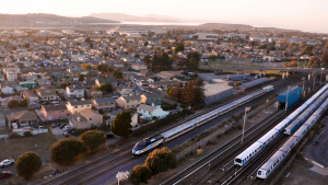 """BART and Capitol Corridor Joint Powers Authority are embarking on the Link21 program that will connect BART with the region's intercity, commuter and high speed passenger rail systems while also """"connecting people sustainably to employment opportunities and affordable housing throughout the 21-county Northern California Megaregion."""" (Link21Program)"""