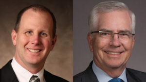 Kevin Cook (left) is the new President of MRC; he succeeds Dan Penovich (right).