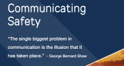 """SLSI now offers the Safety Communication Poster Program (pictured), """"Lost in Translation: Safety Communication in the Rail Industry"""" paper, and HazMat Minute and Safety Minute video series."""