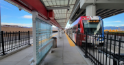 UTA on Oct. 25 is celebrating the grand opening of the Salt Lake City International Airport station on the TRAX Green Line. (Photo Courtesy of Mike Christensen, Executive Director, Utah Rail Passengers Association, via Twitter)
