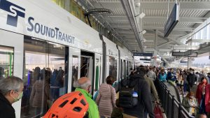 Sound Transit on Oct. 2 extended Link light rail's reach to Seattle's University District and the Roosevelt and Northgate neighborhoods. (Photograph: Courtesy of Sound Transit, Twitter)